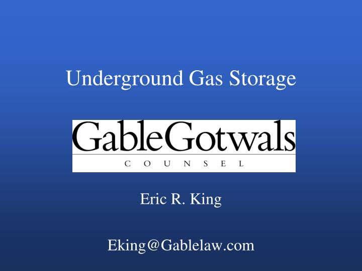underground gas storage n.