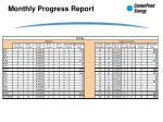 monthly progress report