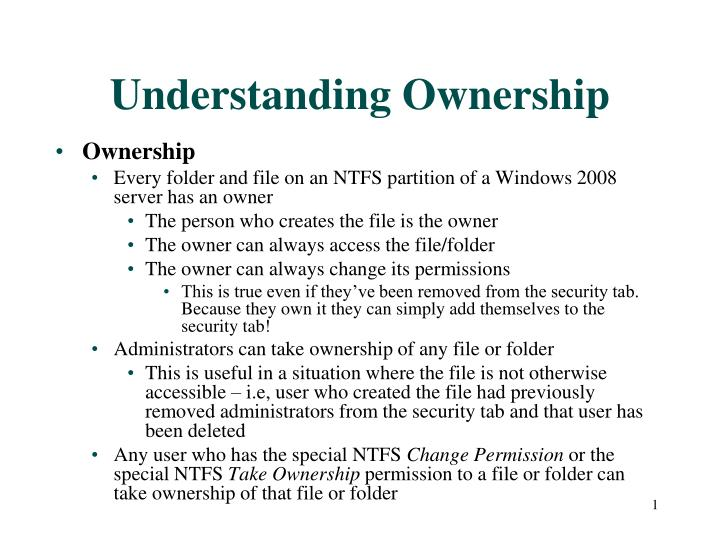 understanding ownership n.