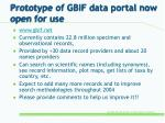 prototype of gbif data portal now open for use