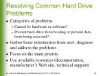 resolving common hard drive problems