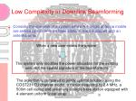 low complexity in downlink beamforming