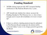 funding standard