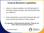 general disclosure regulations