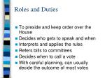 roles and duties