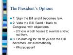 the president s options