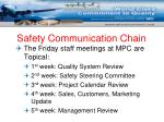 safety communication chain