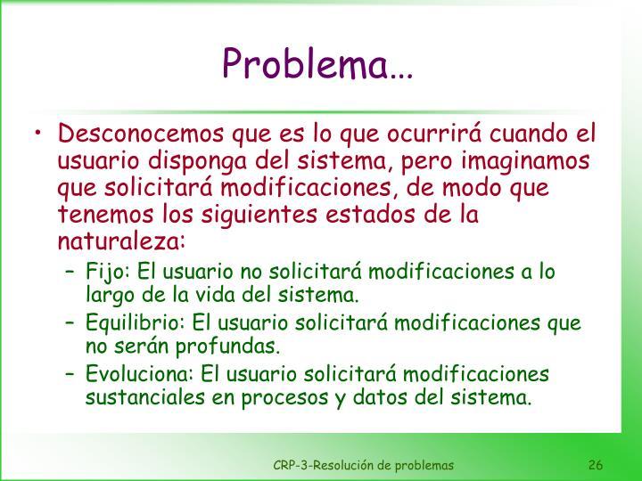 Problema…