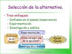 selecci n de la alternativa