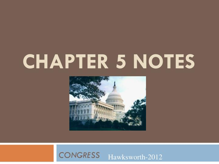 chapter 5 notes n.