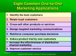 eight common one to one marketing applications