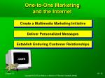 one to one marketing and the internet