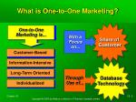 what is one to one marketing