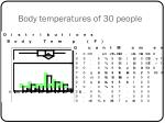 body temperatures of 30 people