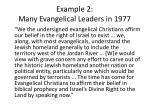 example 2 many evangelical leaders in 1977