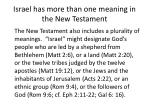 israel has more than one meaning in the new testament