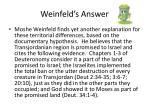 weinfeld s answer