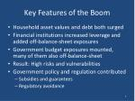 key features of the boom