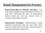 sound management for forestry6