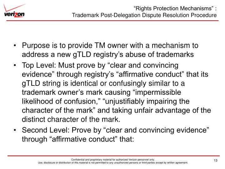 """""""Rights Protection Mechanisms"""" :"""