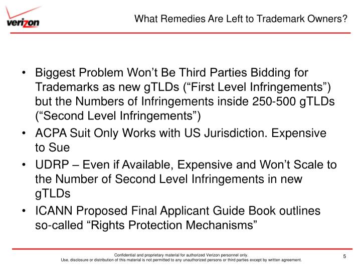 What Remedies Are Left to Trademark Owners?