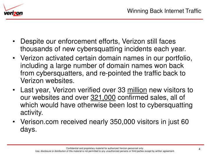 Winning Back Internet Traffic