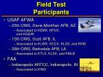 field test participants1