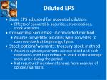 diluted eps