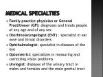 medical specialties5