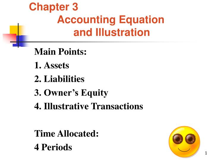 chapter 3 accounting equation and illustration n.