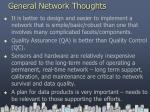 general network thoughts