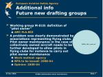 additional info future new drafting groups