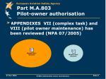 part m a 803 pilot owner authorisation1