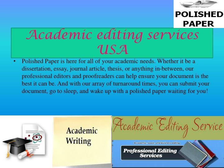 Academic editing services USA