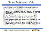 the need for management of sla