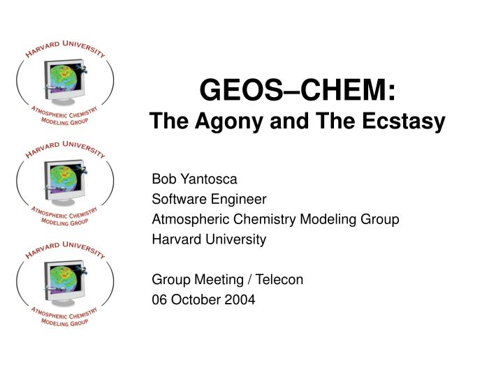 geos chem the agony and the ecstasy n.