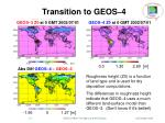transition to geos 46