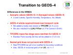 transition to geos 47