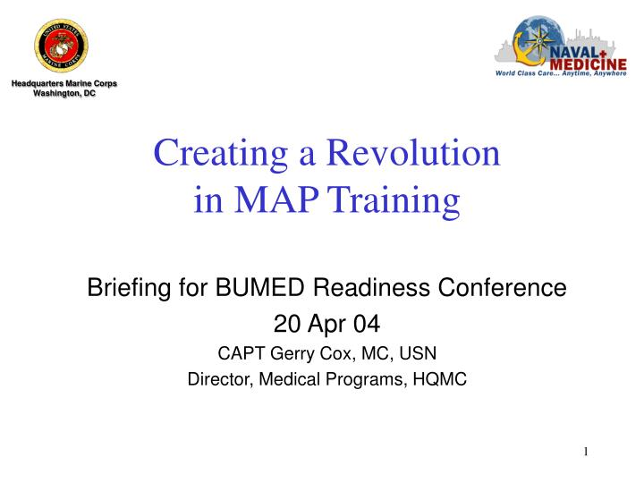 creating a revolution in map training n.