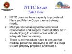 nttc issues tmo view