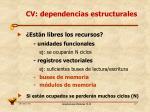 cv dependencias estructurales