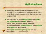 optimizaciones