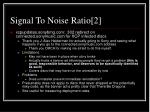 signal to noise ratio 2