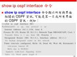 show ip ospf interface
