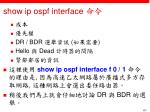 show ip ospf interface2