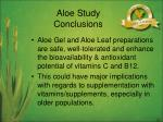 aloe study conclusions