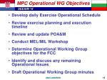 mpc operational wg objectives1