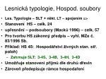 lesnick typologie hospod soubory