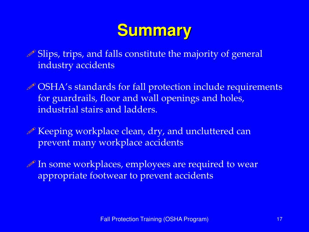 PPT - Fall Protection in General Industry PowerPoint