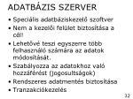 adatb zis szerver
